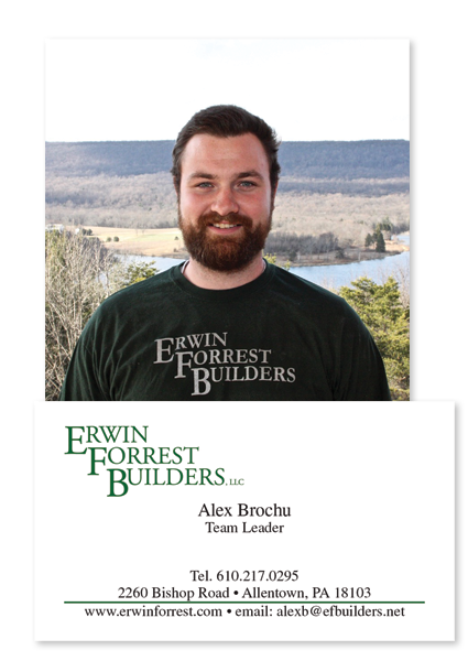 Alex handles all of the new construction projects from drywall to finish. He has worked side by side with Keith for several years and was his first hire. Alex knows how to get the houses completed in EFB fashion.